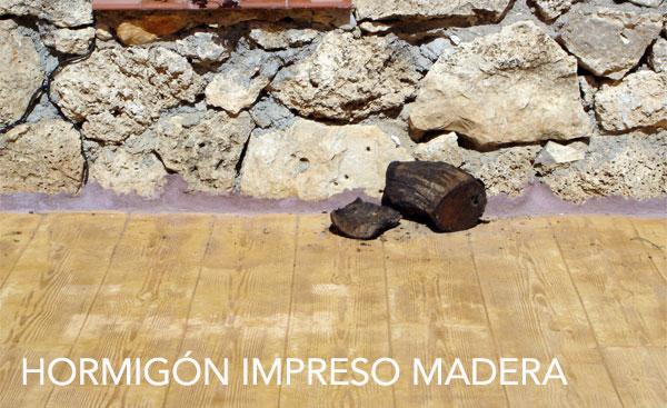 Hormigón IMPRESO MADERA